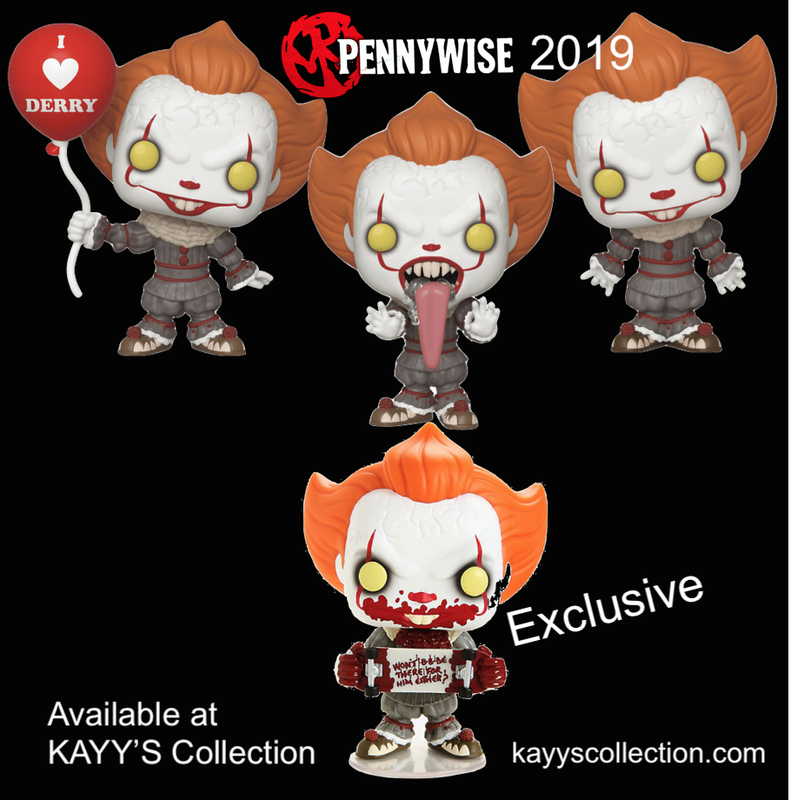 Funko Pop new 2019 IT Pennywise Ballon, Overarms, Dog tongue + Hot Topic Exclusive KAYY'S Collection St Laurent, Montreal H4R 1Y8