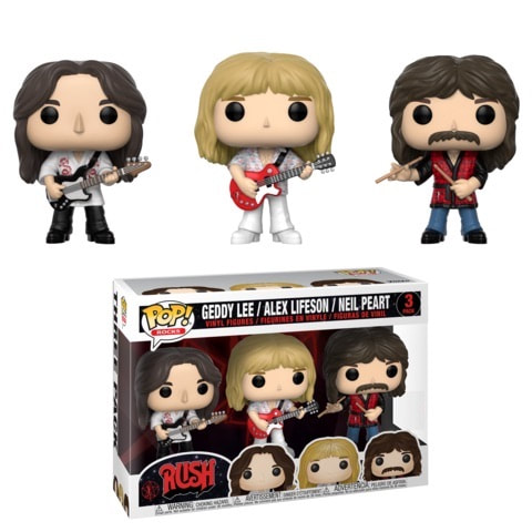 Funko Pop! Music Rocks Rush Geddy Lee Lifeson Neiw Peart 3 Pack Pop Set 32682 KAYY'S Collection Montreal