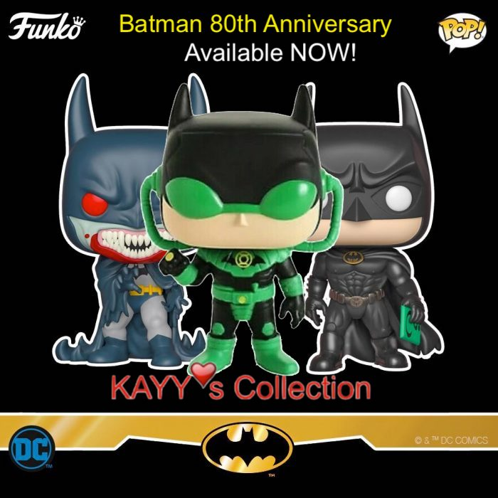 Funko Pop NEW Arrival Funko Pop! New Arrival 2019-08 Batman Forever, Red Rain, and exclusive Dawnbreaker. Available at Kayy's Collection