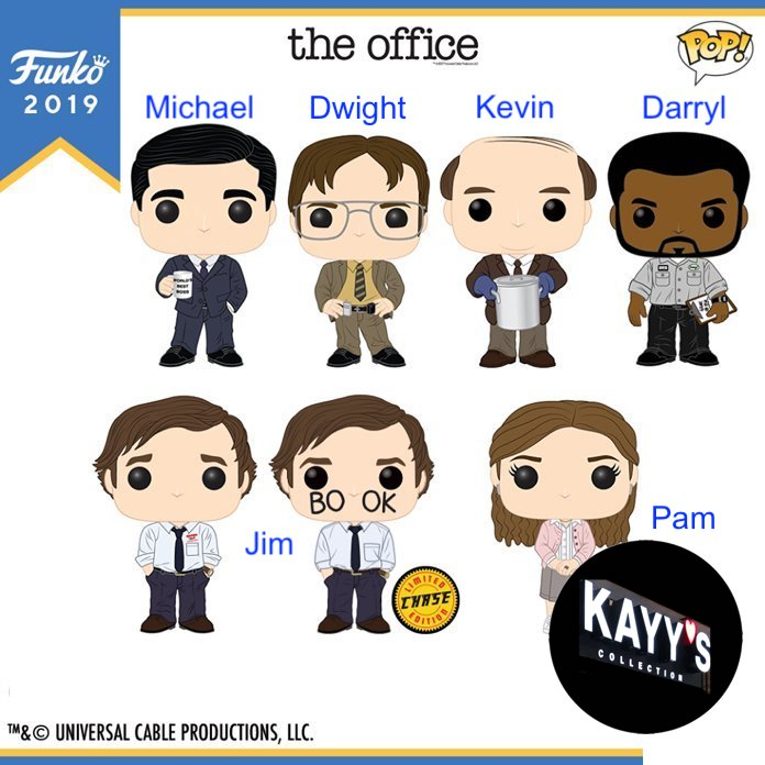 Funko Pop new 2019 The Office Michael, Dwight, Kevin, Darryl, Jim, PamDog tongue KAYY'S Collection St Laurent, Montreal H4R 1Y8