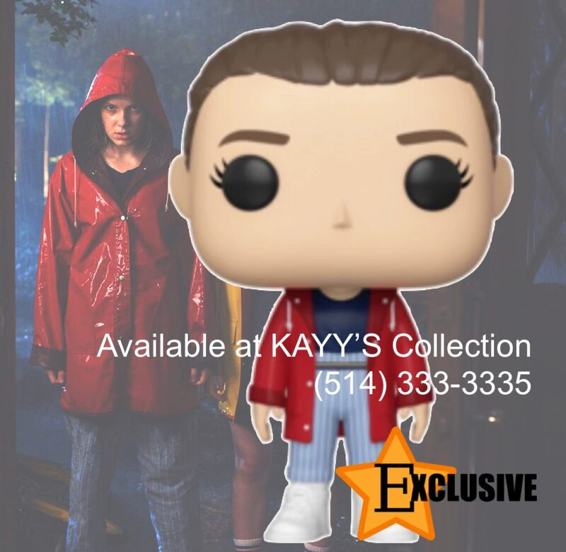 Funko Pop Exclusive  Eleven in Red Jacket Hot Topic KAYY'S Collection Montreal H4R 1Y8
