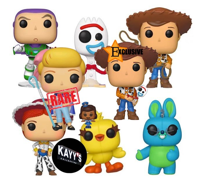 Funko Pop TOY STORY full set with Exclusive Woody and Rare Bo Beep with Officer  Mcdimples KAYY'S Collection Montreal