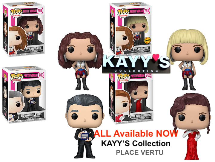 Funko pop PRETTY WOMAN VIVIAN, EDWARD available at KAYY'S Collection Montreal