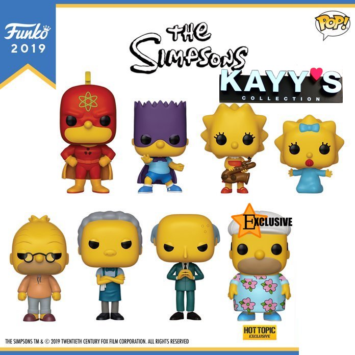 Funko pop SIMPSONS available at KAYY'S Collection Montreal